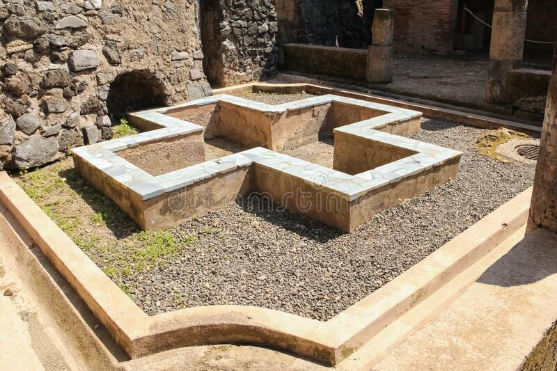 Galba Herkulaneum Neapol Włochy zdjęcie stock