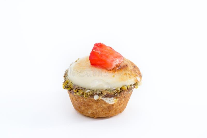 Galdéria de Chibouste com baunilha e fruto imagem de stock royalty free
