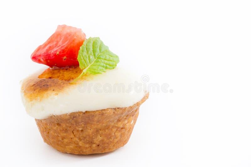 Galdéria de Chibouste com baunilha e fruto imagem de stock
