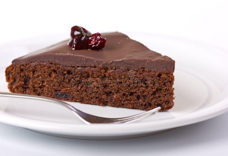 Galdéria do chocolate na placa branca imagem de stock