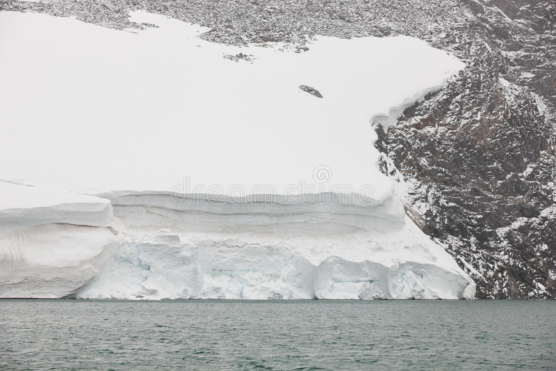 Galdhopiggen glacier. Jotunheimen national park. Route 55. Norwegian winter stock photography