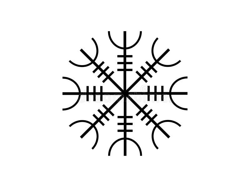 Galdrastafir Símbolo islandés, runas entrelazadas Vector libre illustration