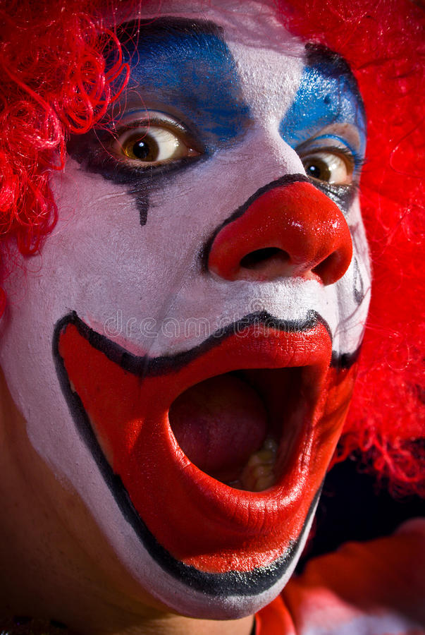 galen clown royaltyfria foton