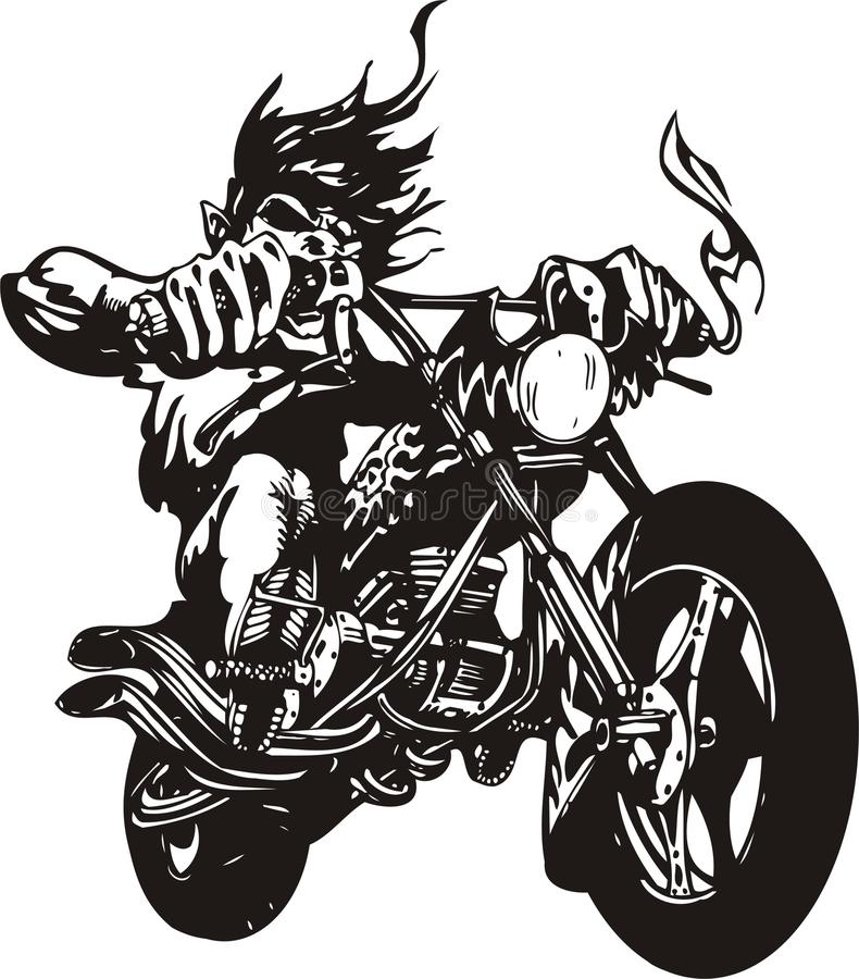 galen cyklist vektor illustrationer