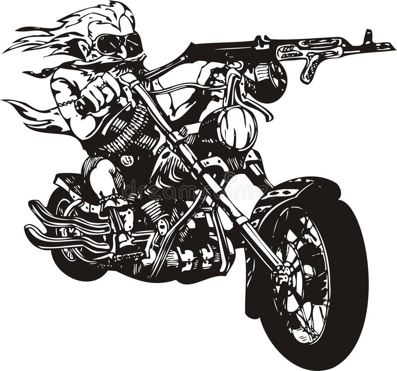 galen cyklist stock illustrationer