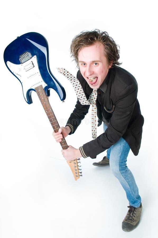 galen electro gitarrman arkivfoton