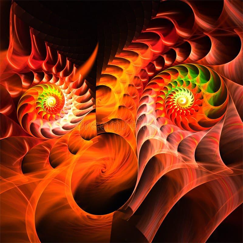 Galen fantastisk framsida för abstrakt fractalkonst vektor illustrationer