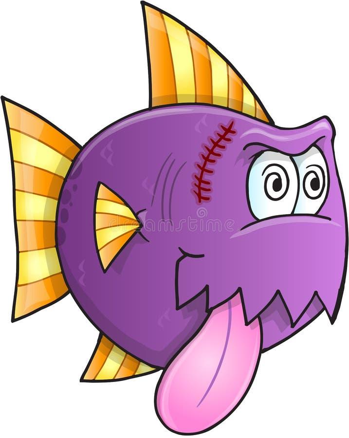 Galen fiskvektor vektor illustrationer