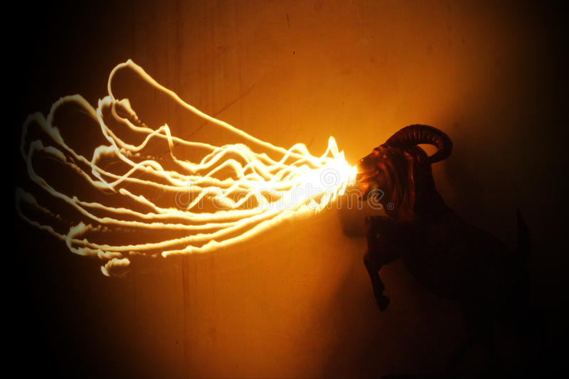 Galen getbrand arkivfoton
