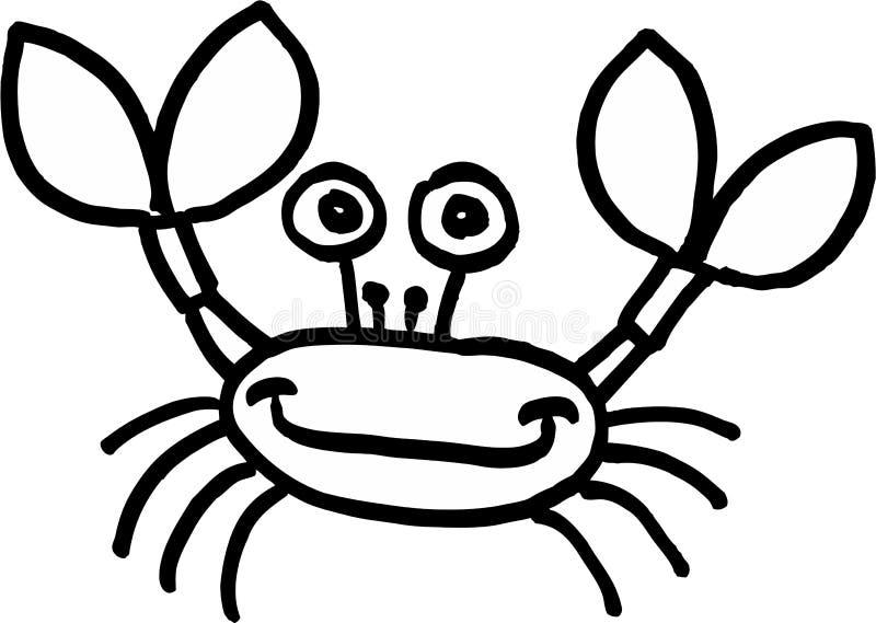galen krabba royaltyfri illustrationer