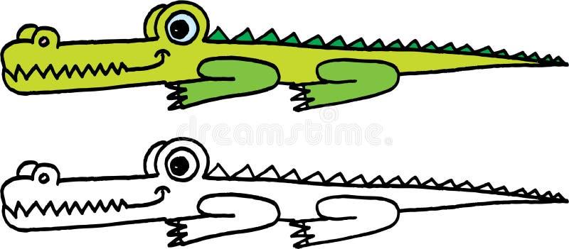 galen krokodil vektor illustrationer