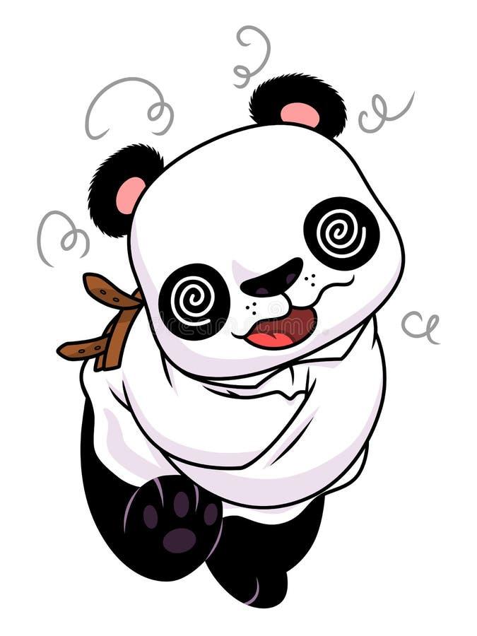 Galen panda vektor illustrationer
