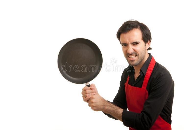 galen panna för kock arkivfoton