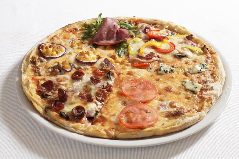 Galen pizza royaltyfri bild