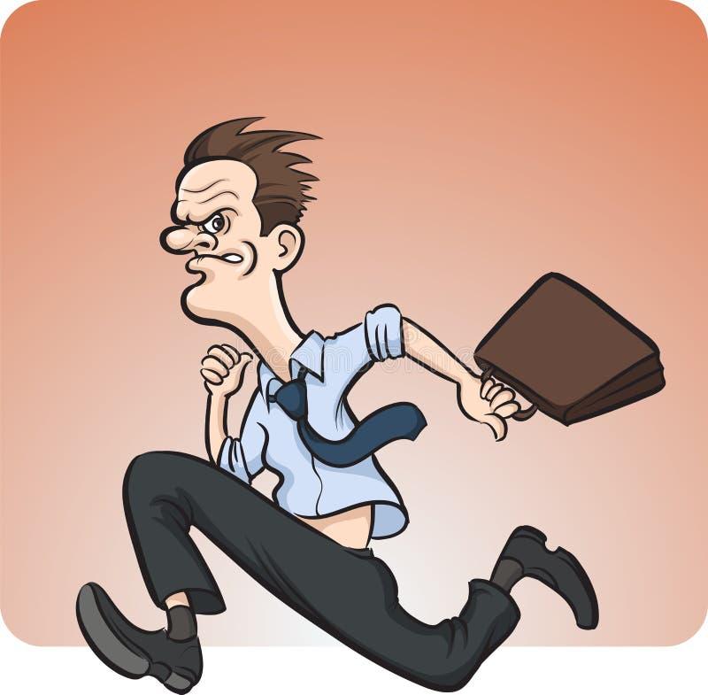 galen running för affärsman stock illustrationer
