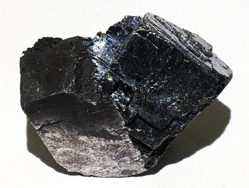 Galena ορυκτός πολύτιμος λίθος κρυστάλλου πετρών μολύβδου στοκ φωτογραφία