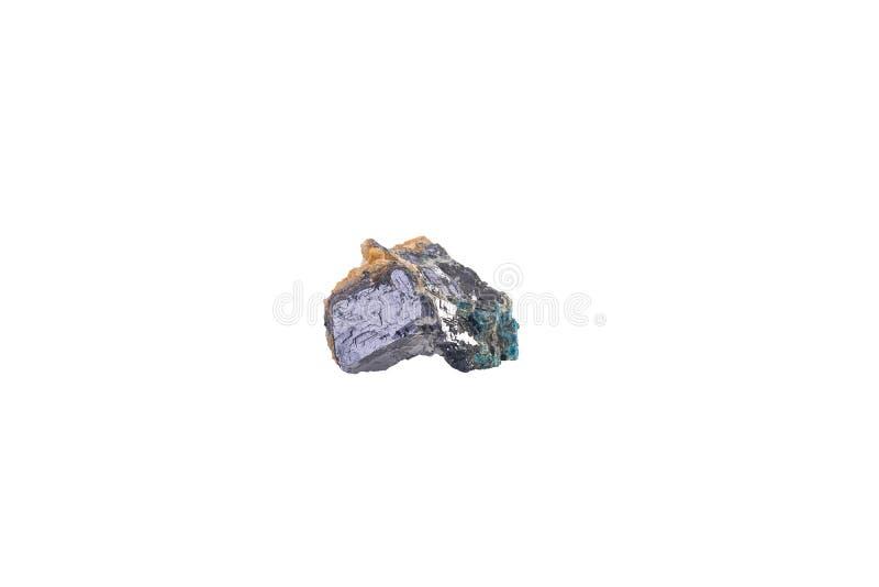Galenite od Maroko odizolowywał zdjęcia stock