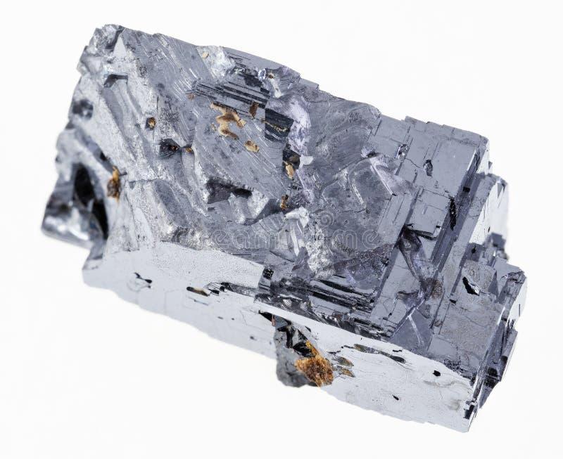 galeno cru (galenite) de cristal no branco fotos de stock royalty free