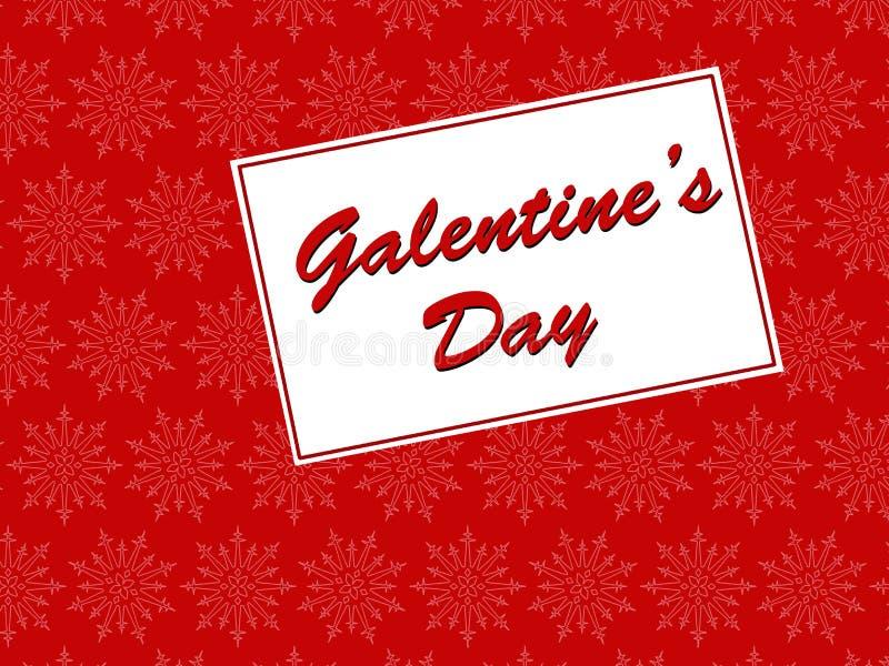 Galentines Tageskarte stock abbildung