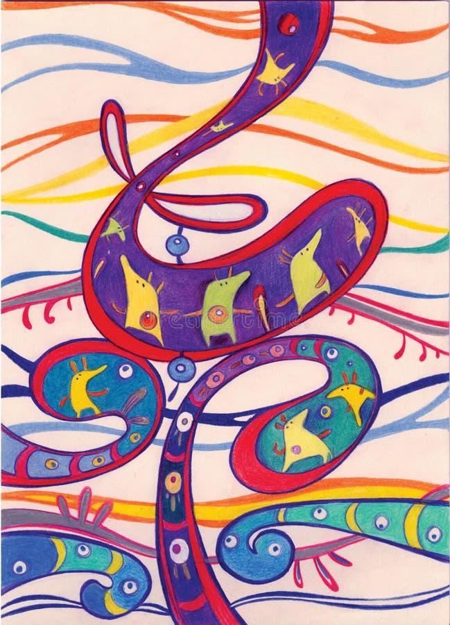 Galería abstracta de la fantasía stock de ilustración