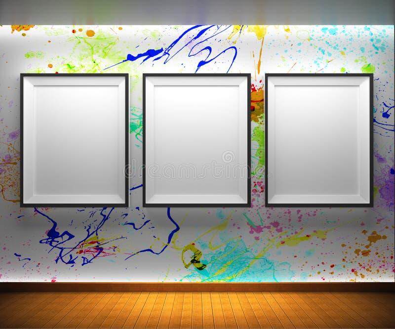 Galería de arte stock de ilustración