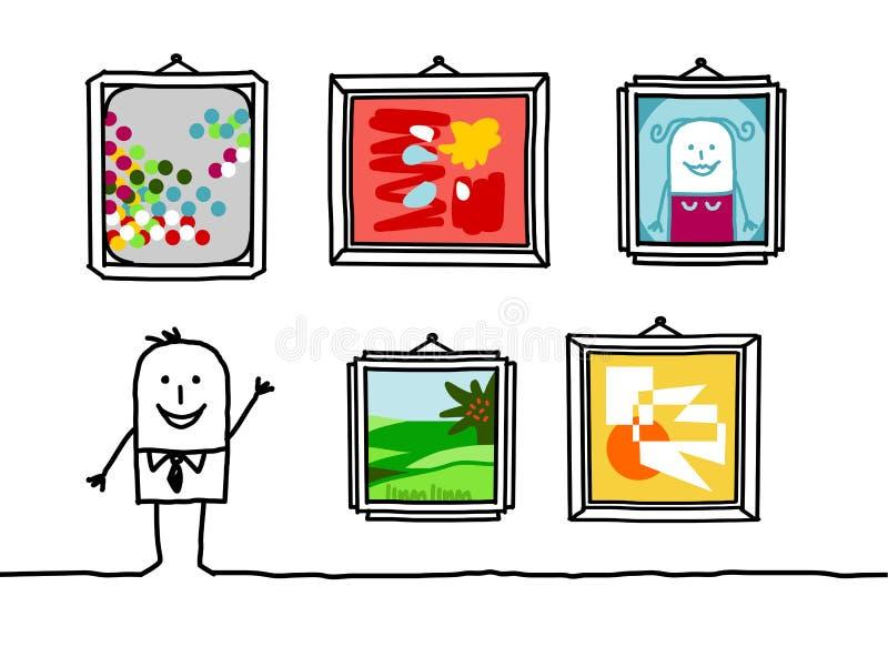 Galería de arte ilustración del vector