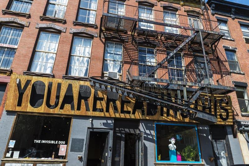 Galería de arte contemporáneo en Brooklyn en New York City, los E.E.U.U. foto de archivo