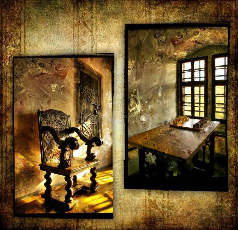 Galería de arte medieval foto de archivo