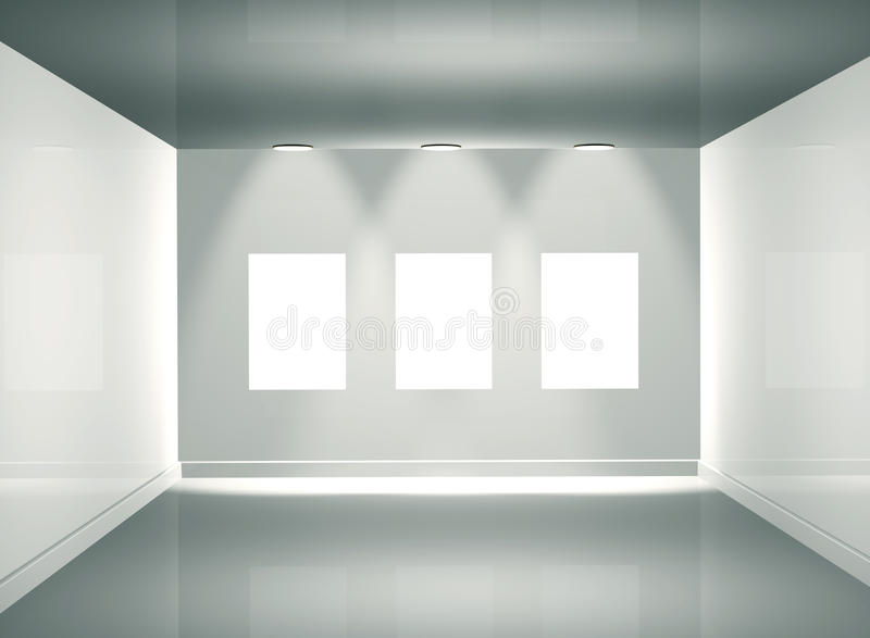 galería de cuadro 3d ilustración del vector