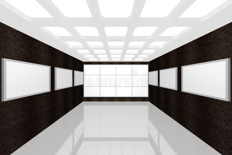 Galería de cuadro interior moderna imagen de archivo libre de regalías