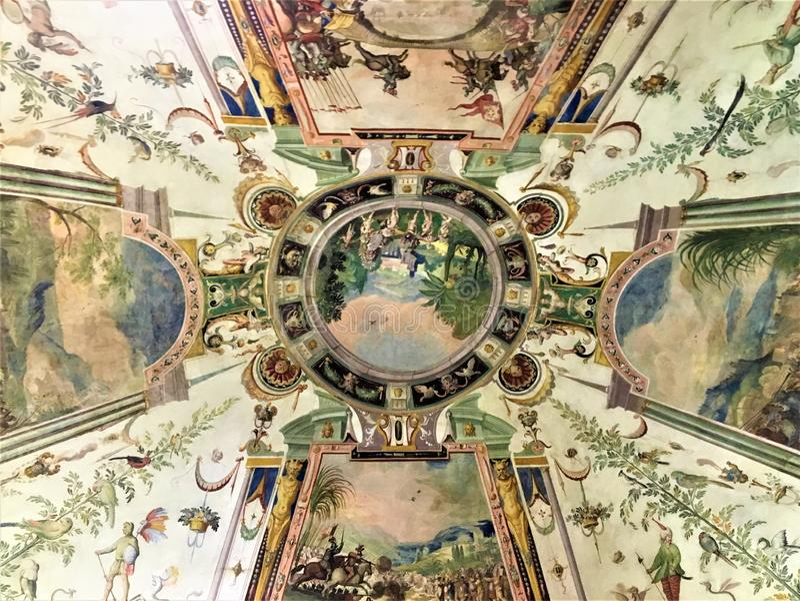 Galería de Uffizi en Florencia, tejado y detalles fotografía de archivo libre de regalías