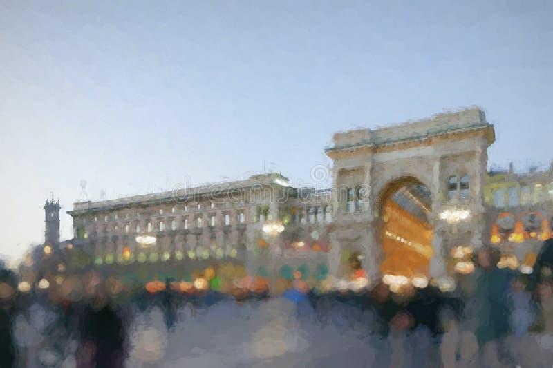 Galería de Vittorio Emanuele II en Milán, Italia fotos de archivo libres de regalías
