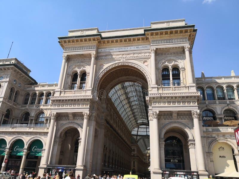 Galería de Vittorio Manuel II fotografía de archivo libre de regalías