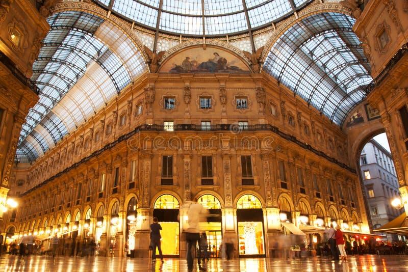 Galería de Vittorio Manuel II. Milano, Italia imagen de archivo libre de regalías
