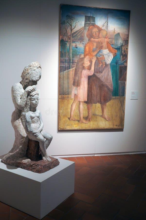 Galería del arte moderno y contemporáneo en Roma, Italia fotos de archivo libres de regalías