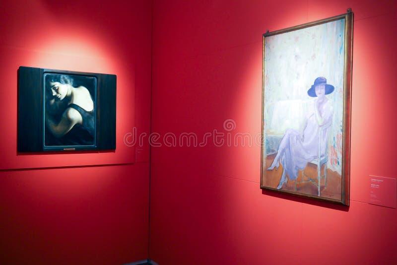 Galería del arte moderno y contemporáneo en Roma, Italia imagenes de archivo