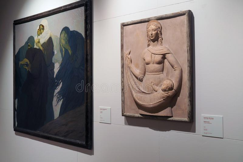 Galería del arte moderno y contemporáneo en Roma, Italia fotos de archivo