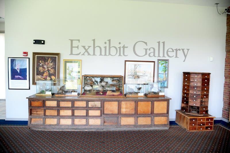 Galería del objeto expuesto en el museo del Tunica en Mississippi del norte fotos de archivo