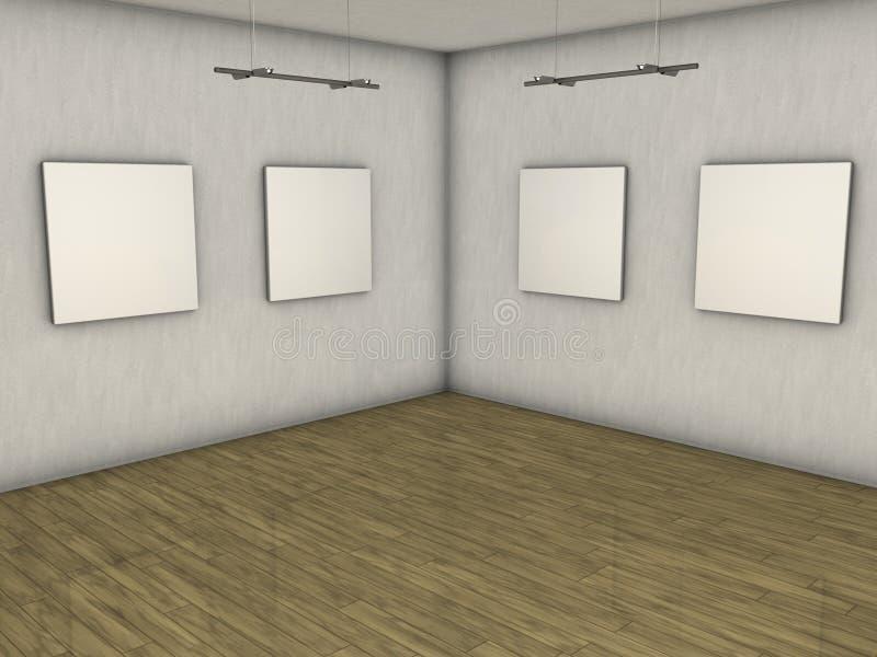 Galería en blanco ilustración del vector