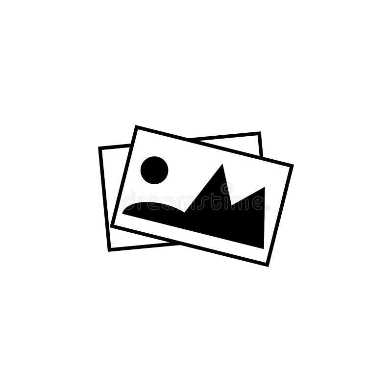 Galería, icono de las imágenes Las muestras y los símbolos se pueden utilizar para la web, logotipo, app móvil, UI, UX libre illustration