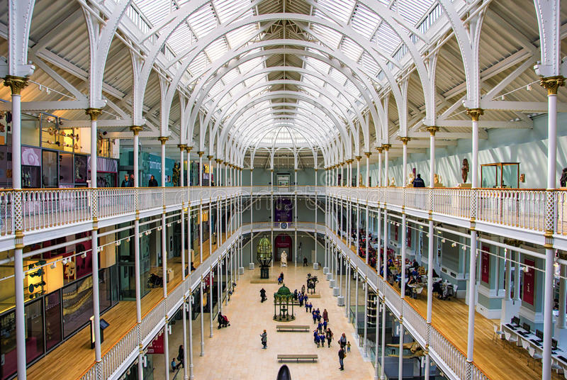 Galería magnífica del Museo Nacional de Escocia imágenes de archivo libres de regalías