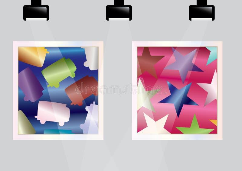 Galería Room_eps ilustración del vector