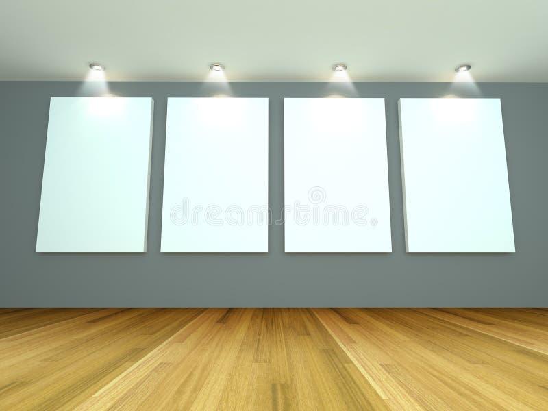 Galería vacía del gris del sitio libre illustration