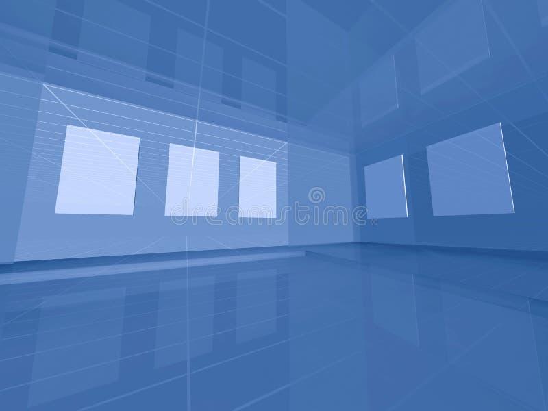 Galería virtual 3d ilustración del vector
