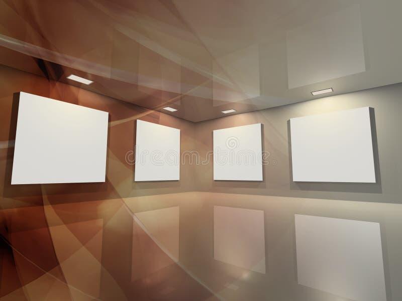 Galería virtual - bronce ilustración del vector