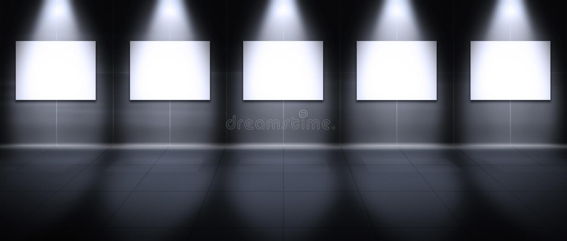 Galería virtual - paisaje ilustración del vector