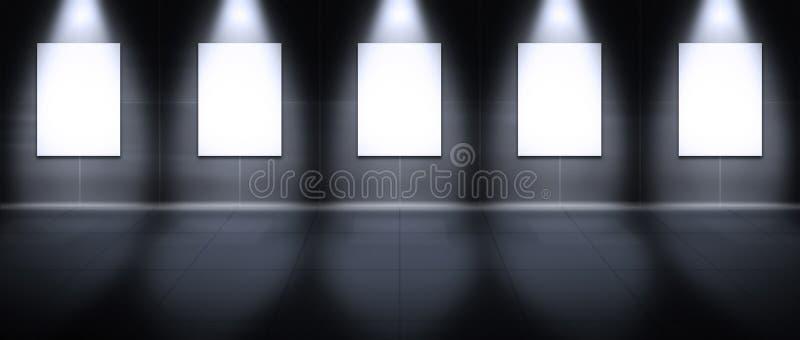 Galería virtual - retrato ilustración del vector