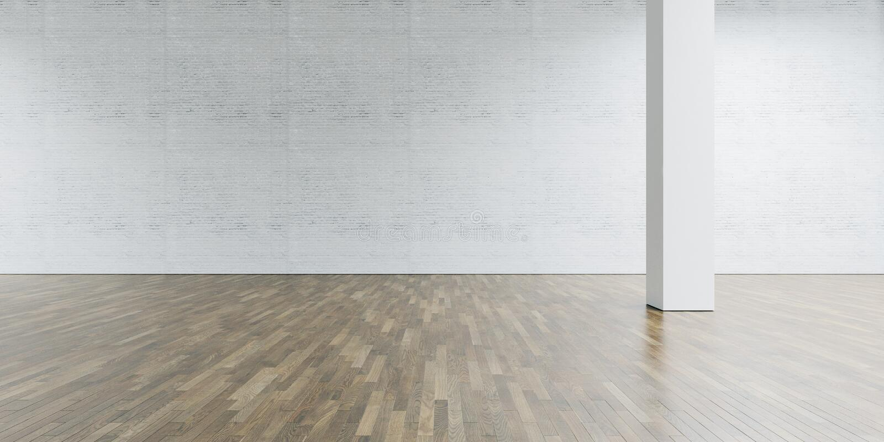 Galería y columna del espacio abierto en el centro Ladrillo foto de archivo libre de regalías