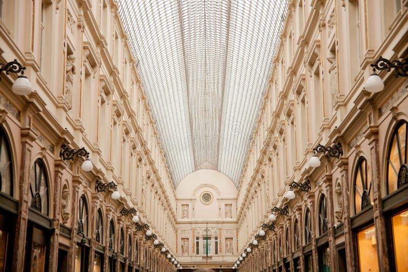 Galerías reales del santo Huberto en Bruselas fotografía de archivo libre de regalías