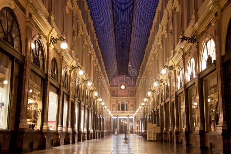 Galerías reales del santo Huberto en Bruselas imagen de archivo